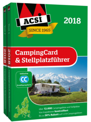acsi campingcard stellplatzf hrer 2018 online kaufen bei. Black Bedroom Furniture Sets. Home Design Ideas