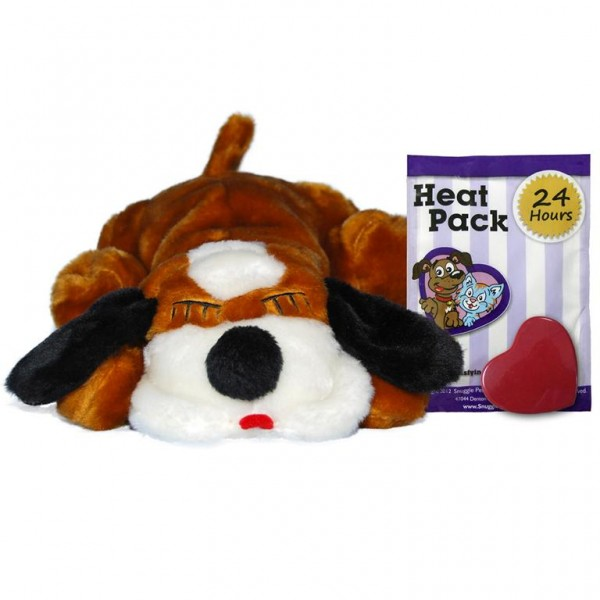Snuggle Puppy Brown & White With Real Heartbeat